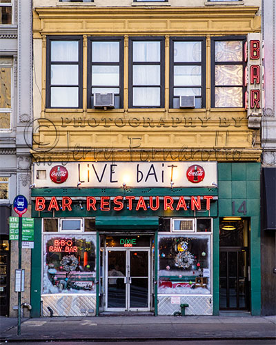 Live Bait is a great place for cheap good food and drinks in NYC.