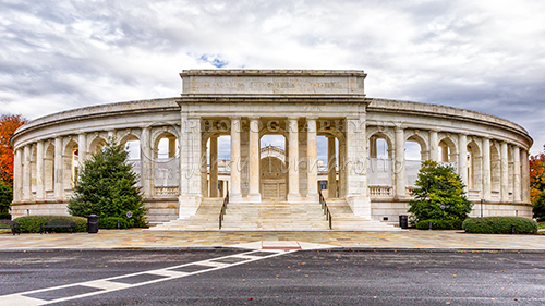 Memorial Amphitheater is an outdoor amphitheater, exhibit hall, and nonsectarian chapel located in Arlington National Cemetery in Arlington County, Virginia.