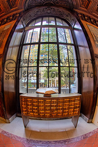 This spring I had the opportunity to photograph the interior of the New York City Main Branch. I really liked the way this window look with my 15mm fisheye lens.
