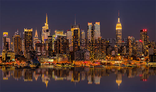 A view of the Manhattan Skyline from Weehawken, New Jersey.