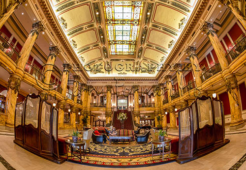 One of Richmond, Virginia's most famous landmark is the Jefferson Hotel. It opened in 1895. The hotel is one of 27 hotels that has a Mobil and AAA Five Star Diamond rating. A tobacco baron by the name of Lewis Ginter built the hotel. Architects Carrere and Hasting designed this magnificent place. Famous patrons include Presidents McKinley, Wilson and both Roosevelt's. Charles Lindbergh, Dolly Parton, The Rolling Stones, and Elvis have spent time here. An urban legend states that the Grand Staircase in the lobby was featured in the classic movie Gone with the Wind. According to the hotel's manager, the author of the novel, Margaret Mitchell, stayed at the Jefferson during the time she was writing the book, thus the description and portrayal of the staircase in her novel is said to be inspired by the one in the hotel.