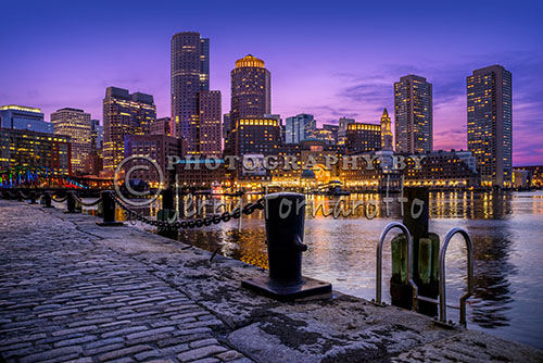 Boston Skyline at Twilight
