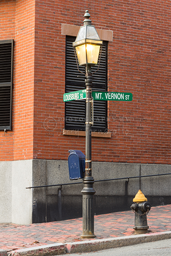"""Louisburg Square and Mount Vernon Street"""