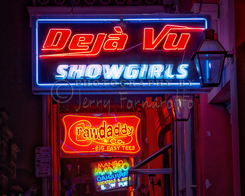 Neon signs in the French Quarter, New Orleans, Louisiana.