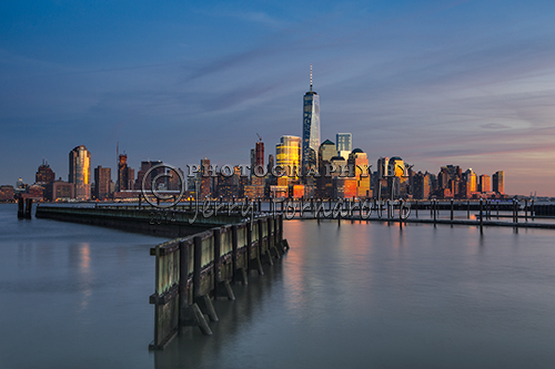 A photo of Lower Manhattan taken from Jersey City, New Jersey.
