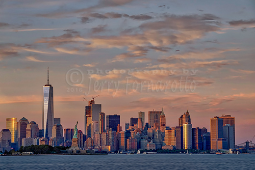 Downtown Manhattan from Jersey City, New Jersey.