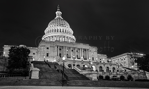 The United States Capitol is located at the eastern end of the National Mall in Washington D.C.. It is the seat of the U.S. Congress and the branches of legislation. The building was built in the neoclassical style with an East Front and a West Front. The West Front is where the presidents inaugural ceremonies take place.