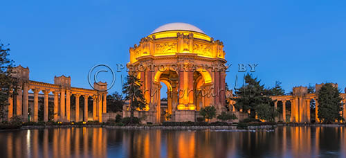 The Palace of Fine Art was the centerpiece for the 1915 Panama-Pacific Exposition. It was rebuild in 1965 Today it is a popular tourist attraction and host many art exhibitions.