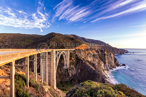 The Bixby Bridge was built in 1932. It is 120 miles south of San Francisco along State Route 1. The bridge is 714 feet long and 24 feet wide. Bixby Bridge is one of the tallest single-span bridges in the world.