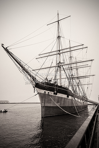 "The ""Balclutha"" is a steel-hulled full rigged sailing ship built in 1886. The San Francisco Maritime National Historical Park now preserves her. Moored at the Hyde Street Pier she is National Landmark and is opened to visitors."