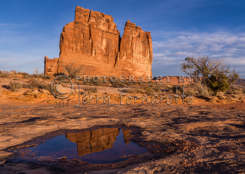 The Organ is a sandstone rock formation located in Arches National Park outside of Moab, Utah