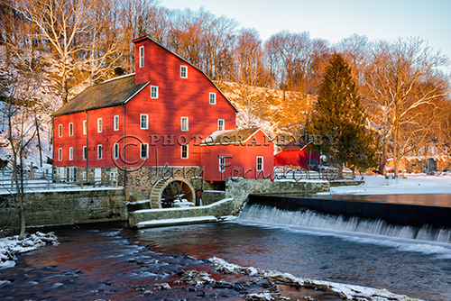 "The Red Mill in Clinton, New Jersey was built in 1812 to process wool. Today the mill is known as ""The Red Mill Museum Village""."