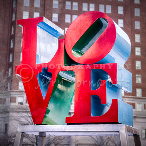 "The ""Love"" sculpture is located in JFK Plaza, Philadelphia, PA. It is the creation of pop artist Robert Indiana."