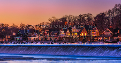 Boathouse Row is located on the Schuylkill River, Philadelphia, Pennsylvania. Some of the clubhouses where build pre-civil war era. Boathouse Row host many regattas starting in early spring and ending late in the fall each year.