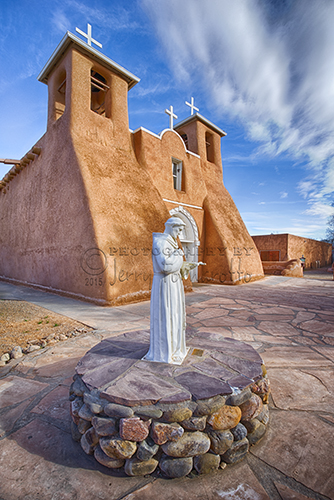San Francisco Mission in Taos, New Mexico was built in 1772. The church was made of adobe by the Franciscan Fathers. In 1970 it was declared a National Historic Landmark.