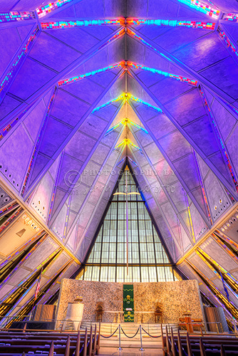 """Air Force Cadet Chapel Altar"""