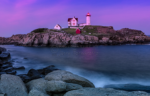 """Twilight at Nubble Lighthouse"""