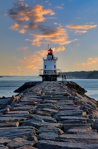 The Spring Point Ledge Light is located in South Portland, Maine. This sparkplug lighthouse marks the west side of the shipping channel into the Portland Harbor.