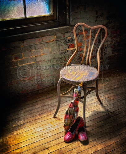 Parasol, Shoes and a Chair