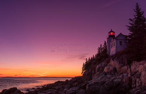 Bass Harbor Head Lighthouse is located on Mount Desert Island, within Acadia National Park. The lighthouse marks the entrance to Blue Hill Bay.