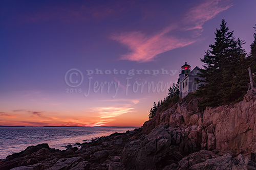 Dusk at Bass Harbor Lighthouse