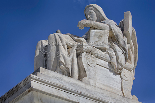 """The statue """"Comtemplation of Justice"""" represents the duties of the Supreme Court."""