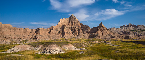 A panoramic view of Cedar Pass, Badlands National Park.