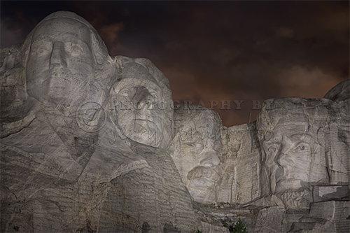 Mount Rushmore National Memorial is located in Keystone, South Dakota. Sculpted by Gutzon Borglum and his son.