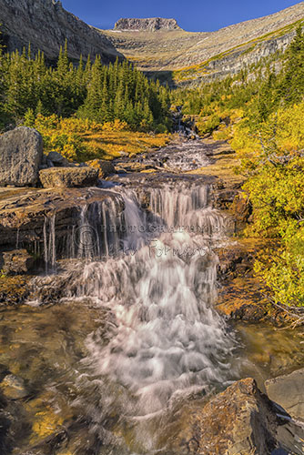 "Lunch Creek Falls is one of the many waterfall you incounter along ""The Going to the Sun Road"", Glacier National Park."