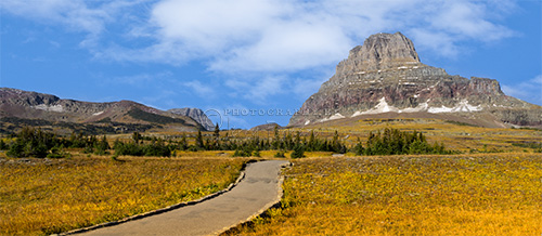 "Logan Pass is located on the Continental Divide in Glacier National Park. It is the highest point on the ""Going to the Sun Road""."