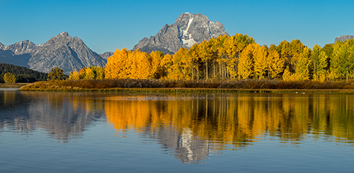 Oxbow Bend on the Snake River, Grand Teton National Park is located one mile east of the Jackson Lake Junction.