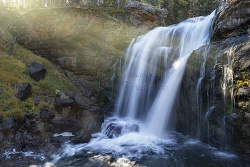 Moose Falls is a 30 foot plunge type waterfall on the Crawfish Creek.