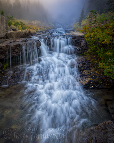An unnamed waterfall in Glacier National Park.