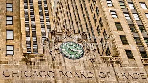 The Chicago Board of Trade Building is located in Chicago, Illinois. The build was built in the art deco style. Construction started in 1929. The skyscraper is 45 stories and 605 feet tall.