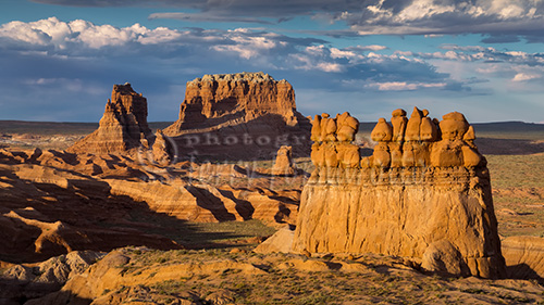 Goblin Valley State Park is located near Hanksville, Utah. It was officially designated a state park on August 24, 1964.The park has the largest concentrations of hoodoos in the world. Weathering has eroded sandstone into interesting shapes, and resemble goblins.