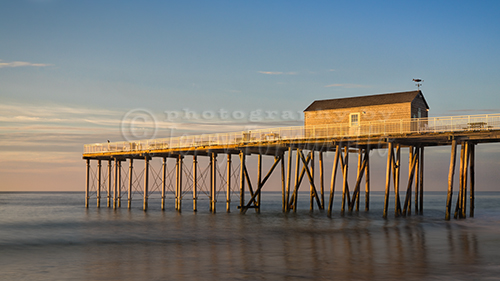 Early morning at the fishing pier, Belmar, New Jersey.