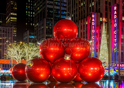 Christmas decorations on 6th Avenue.