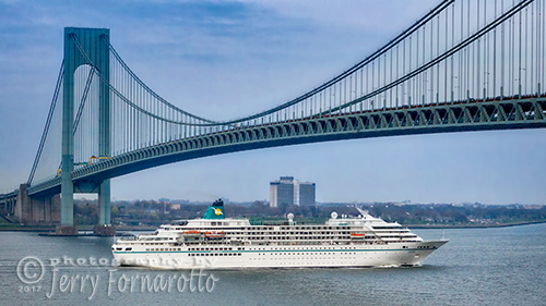 Cruise Ship Passing the Verrazano