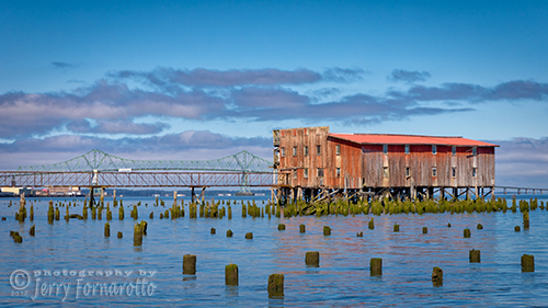 An abandon cannery on the Columbia River, Astoria, Oregon.