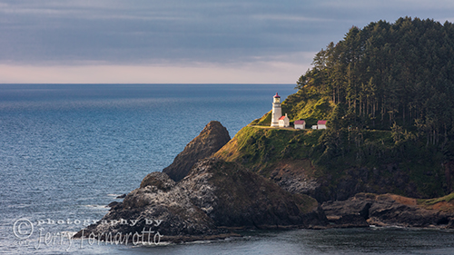 Heceta Head Lighthouse is located at Cape Cove near Florence, Oregon. The lighthouse became active on March 30, 1894.