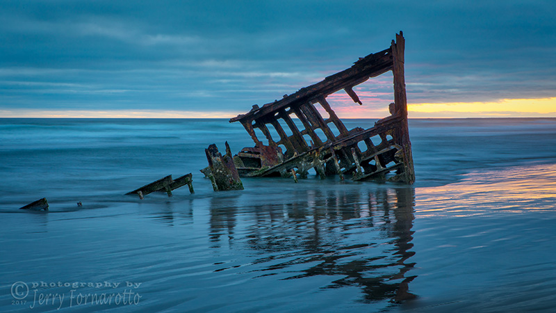 Sunset at Peter Iredale 1