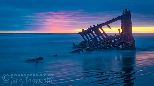 Last Light at the Peter Iredale