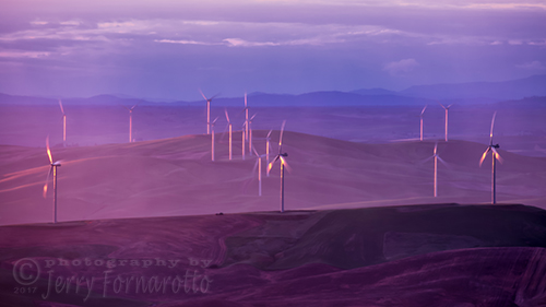 Palouse Windmills Sunset