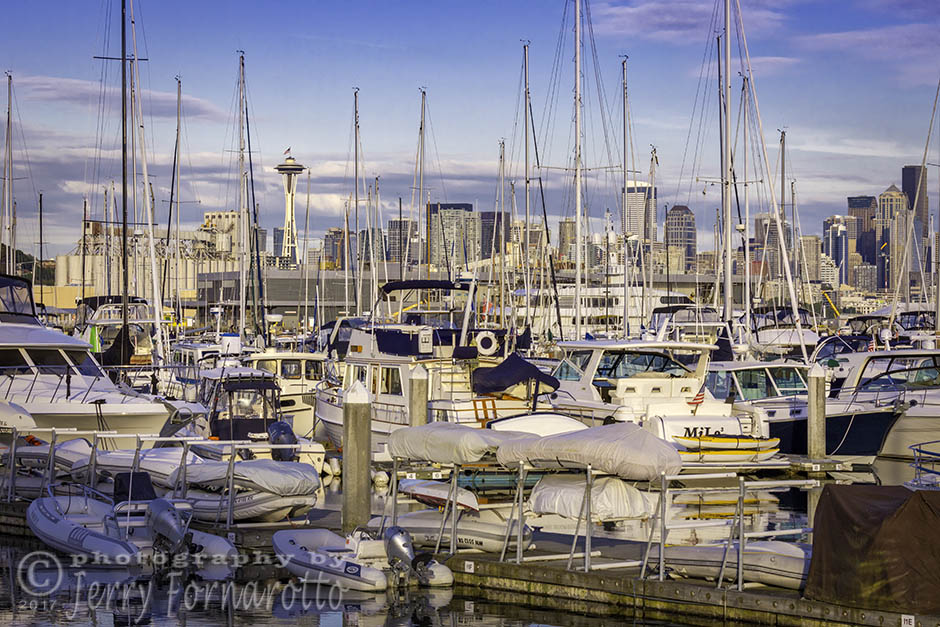 Luxury boats at the Elliot Bay Marina, Seattle Washington. Canon 5D MKIV, Canon 100-400mm set to 100mm, 1/400sec, f16