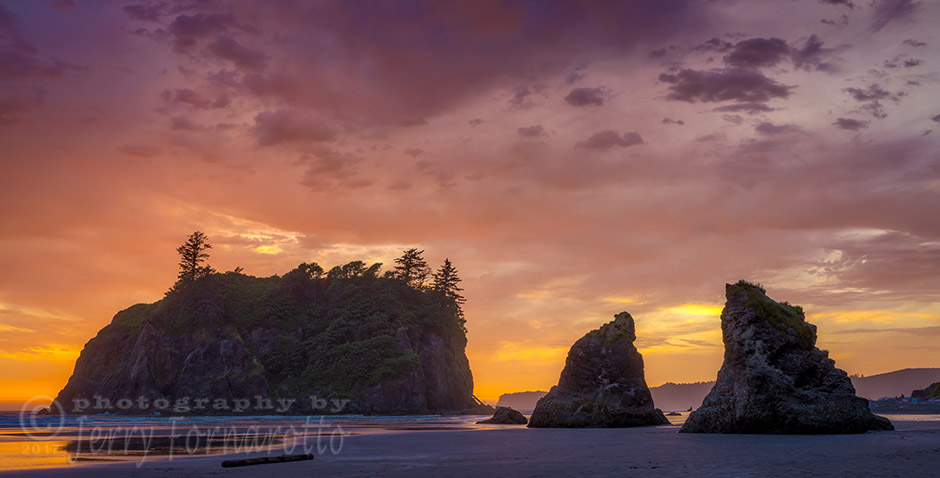 Ruby Beach Glorious Sunset