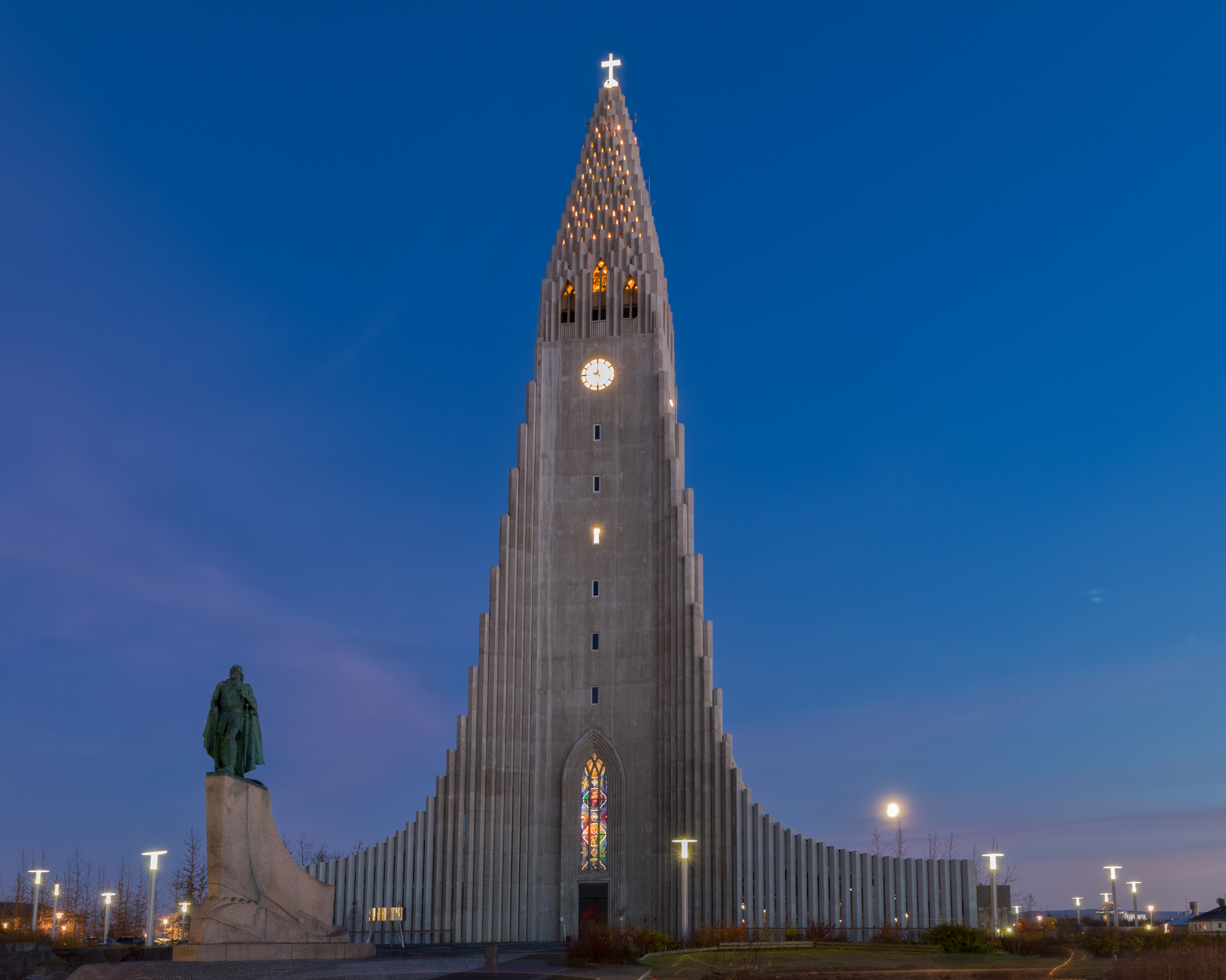 Hallgrímskirkja or the church of Hallgrimur, is a Lurtheran Church in Reykjavik, Iceland. The church is the tallest building in Icelnad.