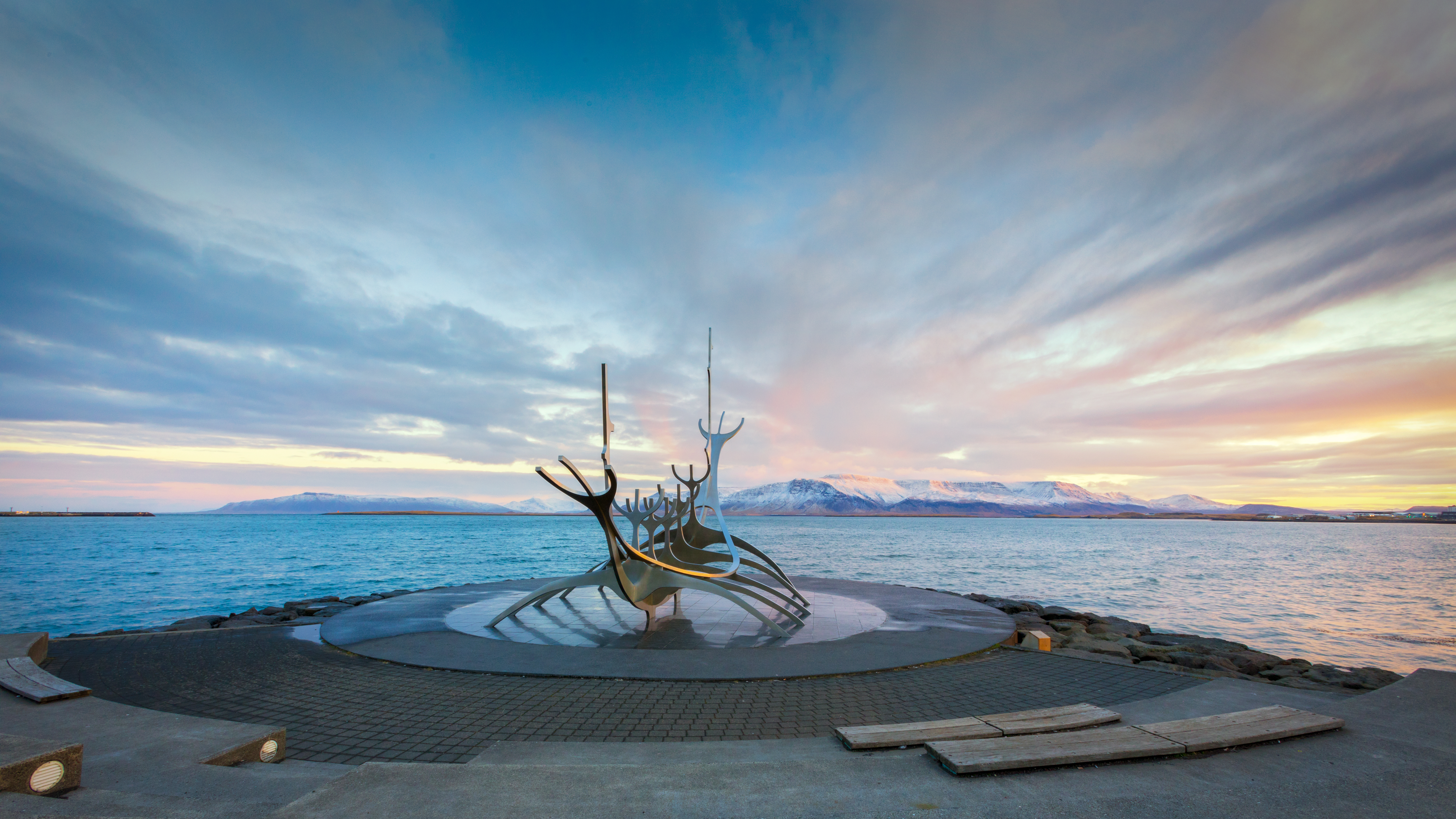 Sun Voyager, or Solfar, is a sculpture by Jon Gunnar Arnason, located in Reykjavík, Iceland. Sun Voyager is described as a dreamboat, or an ode to the sun.