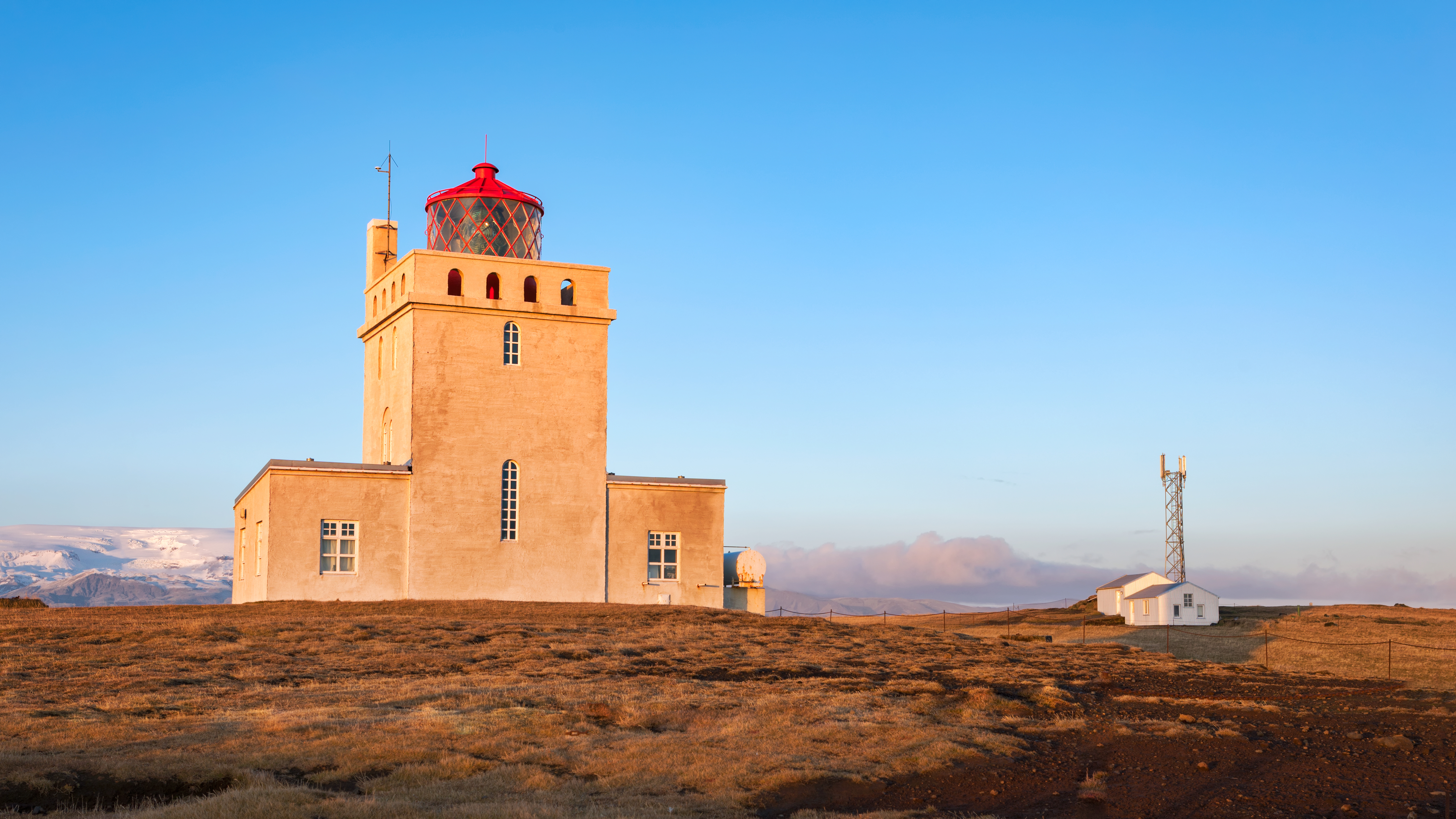 Dyrholaey Light is on the southern side of Iceland, near the city of Vik.