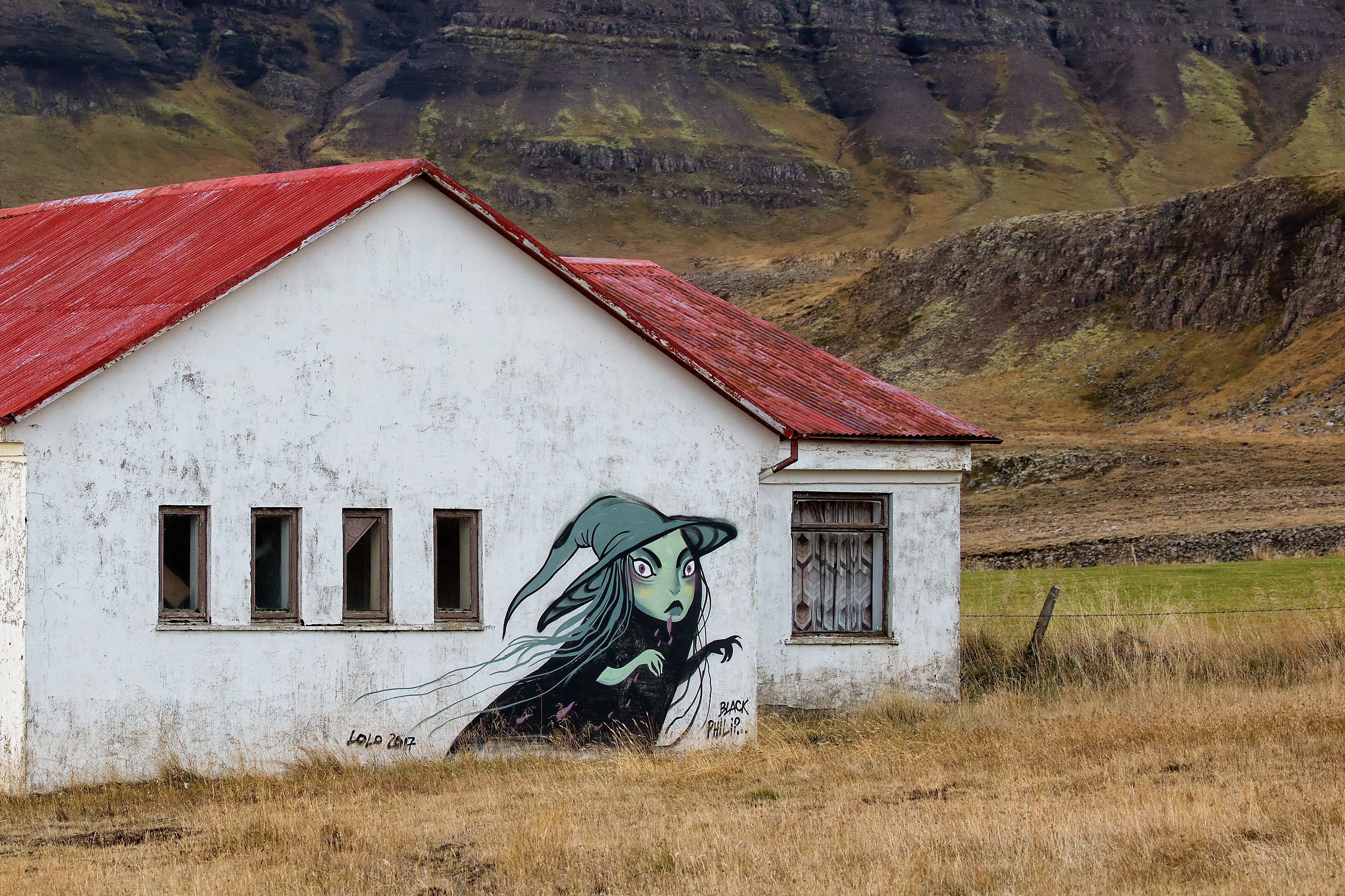 Mural along the Ring Road, Iceland.