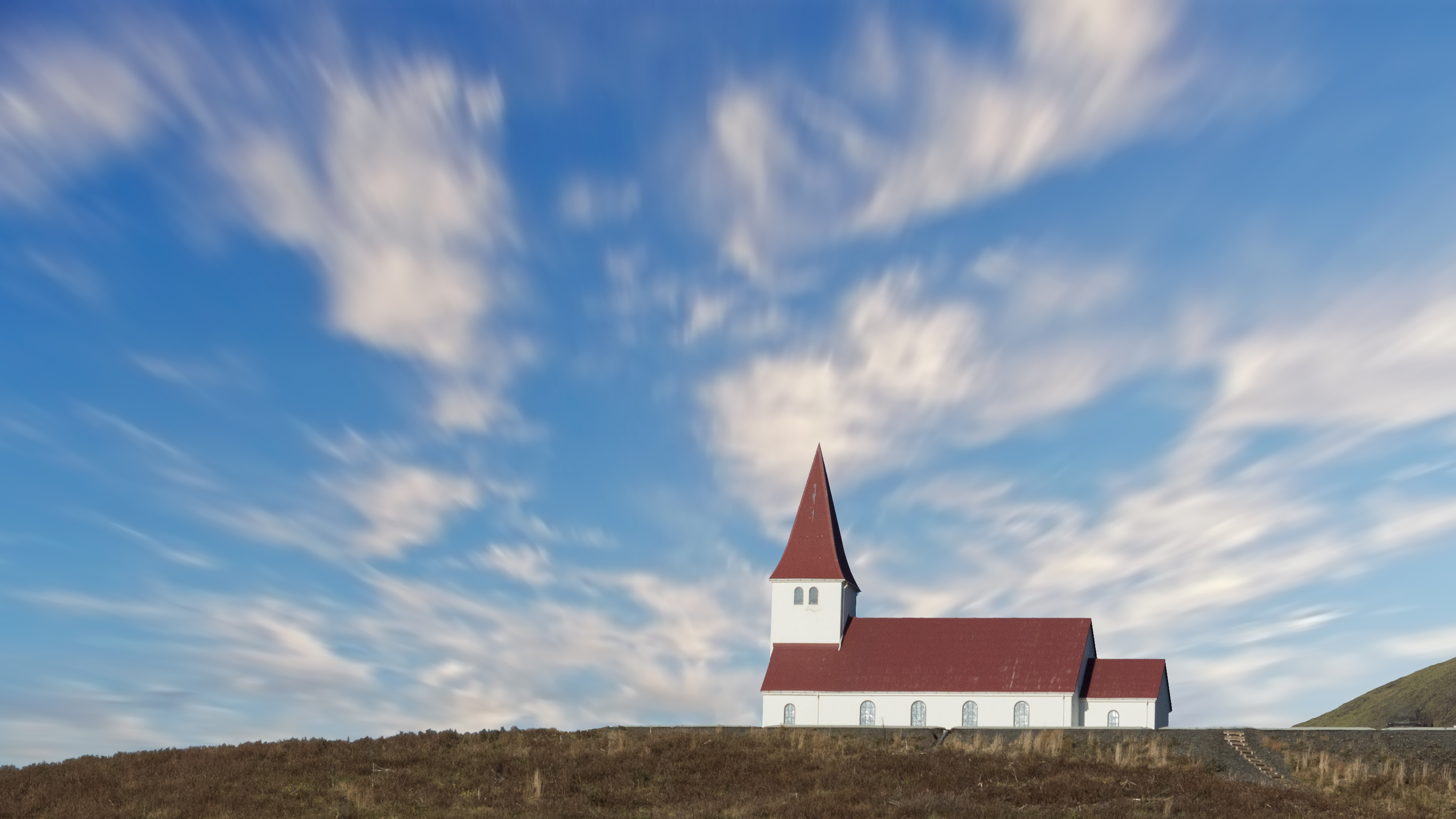 A small Luthern church in Vik, Iceland.